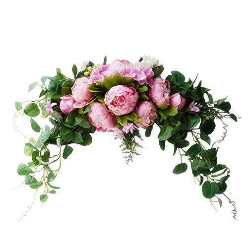 Rehomy Weeding Arch Flowers Artificial Flowers Ornament for Wall Front Door Decor