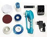 WESTFALIA Automotive Power Akku-Putzmaschine 10-teilig elektrische Reinigungsbürste kabellos