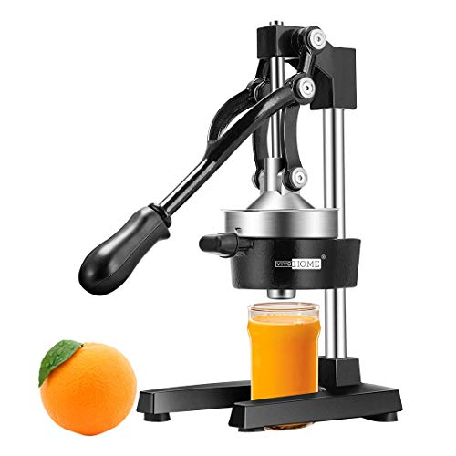 VIVOHOME Heavy Duty Commercial Manual Hand Press Citrus Orange Lemon Juicer Squeezer Machine Black