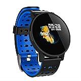 RTGFS Smart Watch Life wasserdichte Aktivität Fitness Tracker Blut Blut Blutdruck Uhr Unisex blau Smartwatch blau