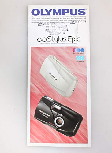 Why Should You Buy Olympus Infinity Stylus Epic Camera INFORMATIONAL BROCHURE