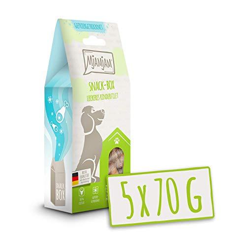 MjAMjAM - Premium Snackbox für Hunde - leckeres Rinderfilet, gefriergetrocknet, 1er Pack (1 x 70 g)