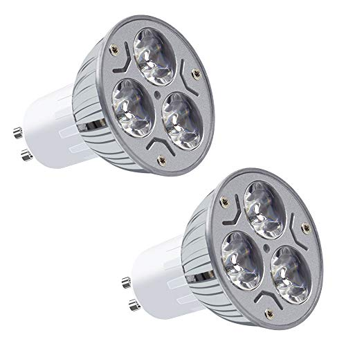MENGS 2 Stück GU10 LED Kaltweiss Lampen 3W 180 Lumen LED Leuchtmittel 6000 Kelvin Kaltweiß, Ersatz 20W Halogenlampen 60 ° Abstrahlwinkel Reflektorlampen, CRI>80, AC 85-265V