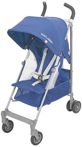 Maclaren Globetrotter Stroller, Medieval Blue/White