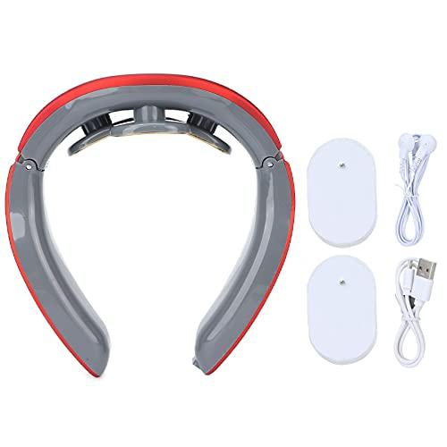 Masajeador De Cuello, Masajeador De Cuello De Pulso Eléctrico, Control Inteligente Diseño En Forma De U Ajuste 3D De Cuello Masajeador De Cuello Inteligente Con Calor