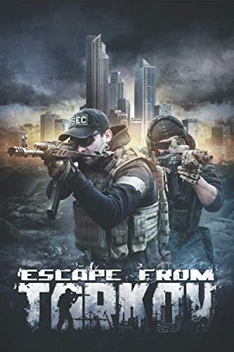 """ESCAPE FROM TARKOV NOTEBOOK: Composition Book for Games Lovers. 6""""x 9""""/120 pages. White Paper."""