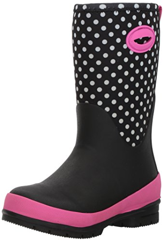 Western Chief Kid's Cold Rated Neoprene Memory Foam Snow Boot, Chloe Dot, 2 M US Little Kid