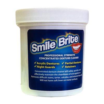 AMD Smile Brite Denture Cleaner Jar Los Angeles Mall Colorado Springs Mall Scoop 1Lb w