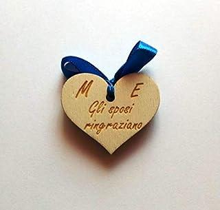 SEGNAPOSTO personalizzato per MATRIMONIO Cuore con iniziali e scritta Idea originale in legno Wedding Ricevimento Tavolo