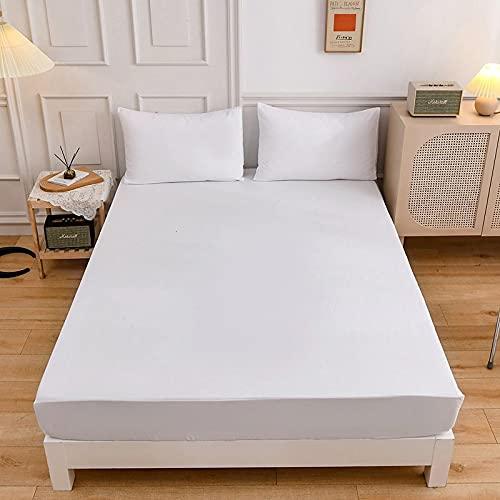 HAIBA Juego de sábanas de microfibra doble británica de 100% algodón egipcio de calidad hotelera, extra profunda, 200 x 220 + 27 cm