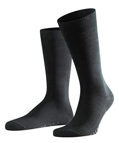 FALKE Herren Socken Family - 94% Baumwolle, 1 Paar, Schwarz (Black 3000), Größe: 47-50
