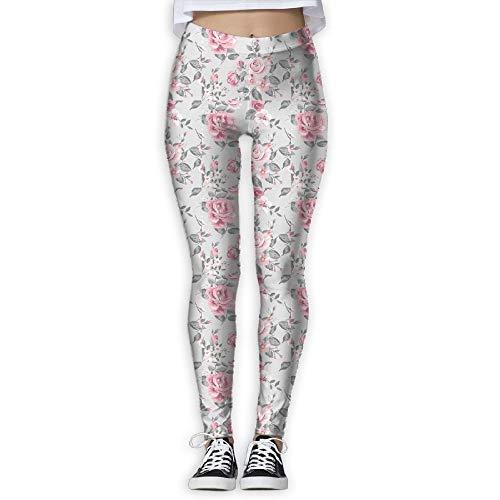 Leggings de Entrenamiento Deportivo con pantalón de Yoga Vintage Rose Provide Women with High-Waisted, Leggings de Yoga para Gimnasio Ultra Suaves y livianos