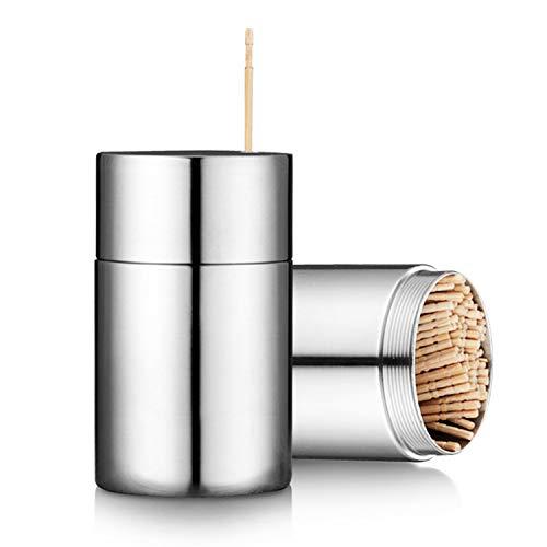 Makidar Toothpicks Holder Dispenser Stainless Steel (Chromed)