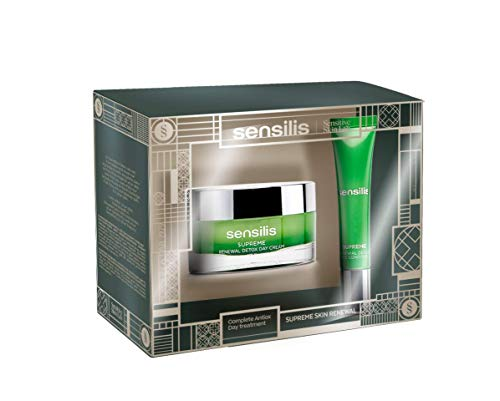 Sensilis Supreme Renewal Detox - Kit de Belleza con Crema de Día (50 ml) + Contorno de Ojos (15 ml)