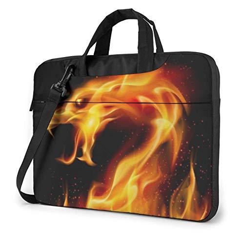 Bolso de Hombro Impreso dragón ardiente del Ordenador portátil, maletín del Bolso de Mensajero del Negocio del Bolso de la Caja del Ordenador portátil
