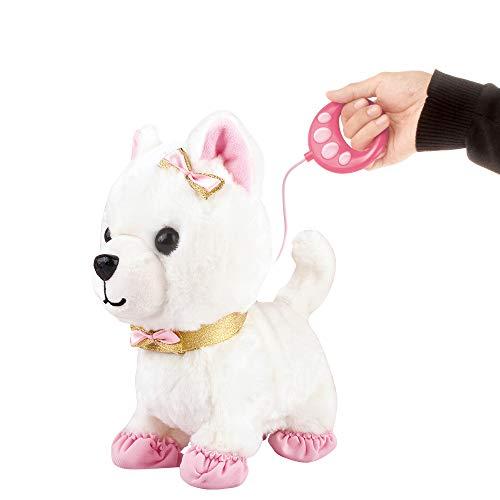 deAO Interaktives elektronisches Hundespielzeug mit abnehmbaren Leine, Funktionen von Gehen, Berühren, Stimme und Gestenerkennung - ideal für Kinder
