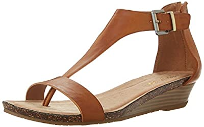 Kenneth Cole REACTION Women's Great Gal T-Strap Wedge Toffee 8.5 M US