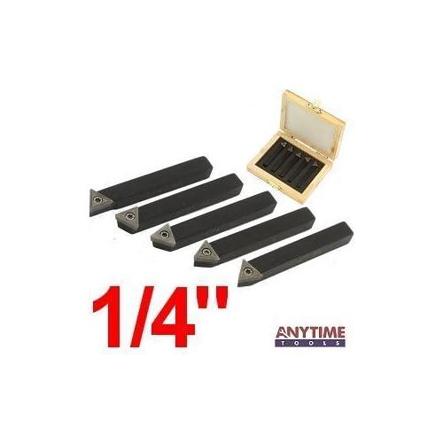 "5-Piece 1//4/"" Indexable Carbide Tool Bit Sets C6"