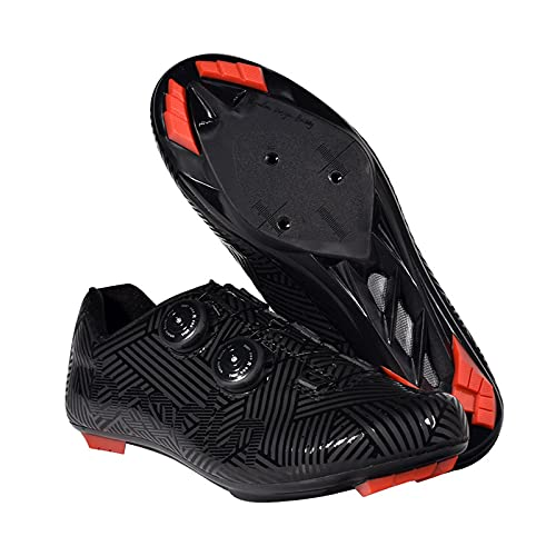 JMAR Zapatillas De Ciclismo De Bicicleta De Carretera Y Montaña - Zapatillas De Ciclismo para Hombre Calzado De Bicicleta De Carretera para Zapatos con Candado De Bicicleta Al Aire Libre