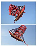 SHLMM 2019 New Large Creative 3D Pirate Ship Upscale Adult Children Kite Funny Sports Toy Gift Funny Sport Outdoor Playing Toys (red)