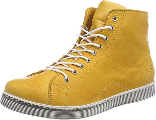 Andrea Conti Damen 0341500 Hohe Sneaker, Gelb (Ocker 116), 39 EU