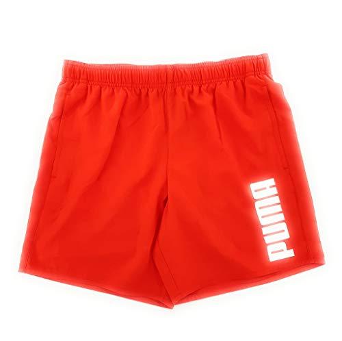 PUMA Swim Men's Mid Shorts Trunks, Rojo, XS para Hombre