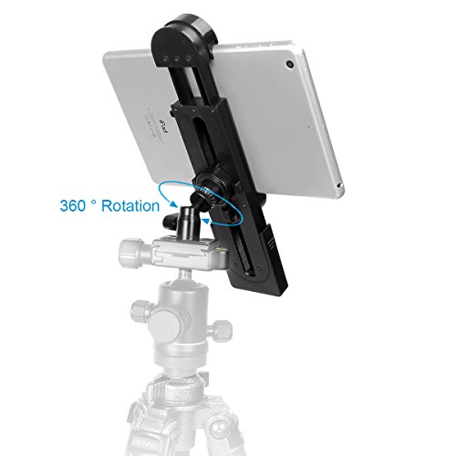 Vikdio 2in1 Phone iPad Pro Tripod Mount Adapter Universal Tablet Clamp Holder