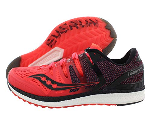 Saucony Liberty Iso Womens Shoes Size 9, Color: Viz Red/Black/Grey
