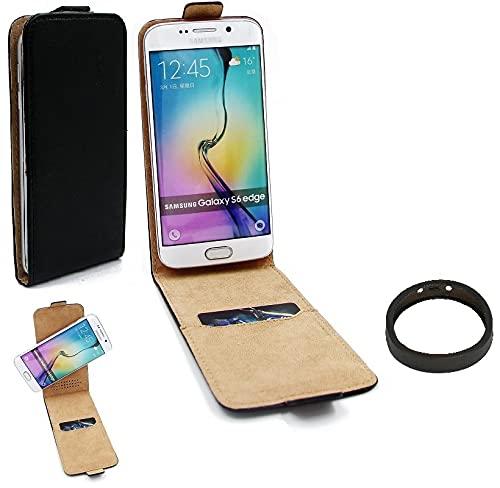 K-S-Trade TOP Set Handy-Hülle Kompatibel Mit HTC Desire 19 Plus 360° Flipstyle Schutz-Hülle Smartphone Tasche Schwarz + TPU Bumper, Hülle Hülle Flip Cover