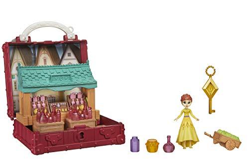 Hasbro Disney Die Eiskönigin 2 Pop-Up Abenteuer Dorfset Spielset mit Griff, inklusive Anna Puppe zum Disney Film Die Eiskönigin 2 – Spielzeug für Kinder ab 3 Jahren