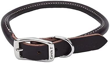 Coastal Pet Circle T Nickel Buckle Latigo Leather Round Dog Collar 3/4