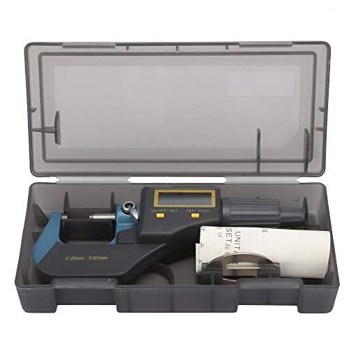 Micrómetro exterior digital, micrómetro de espesor, calibre de espesor de 0,001 mm y llave para micrómetro industrial herramienta de medición doméstica/bricolaje