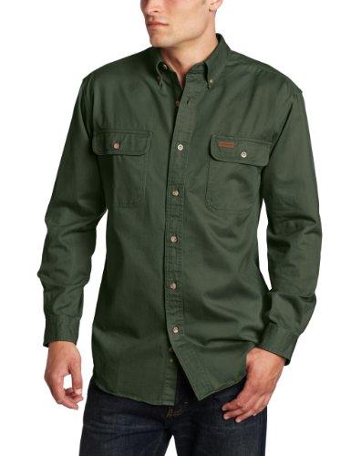 Carhartt Men's Oakman Sandstone Twill Original-Fit Work Shirt, Moss, Regular Medium