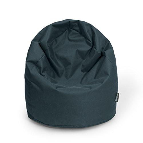 BuBiBag Sitzsack XL mit Füllung Sitzkissen Bodenkissen Kissen Sessel BeanBag (schwarz)