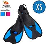 Snorkeling Fins For Kids, Short Floating Training Swimming Fins for Children Boys