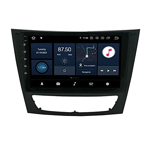Android 10.0 Coche Estéreo Radio para Mercedes-Benz W211 GPS Navigation 9'''Head Unit ScreenScreen MP5 Multimedia Player Video Receptor con 4G WiFi SWC DSP VIIPOO,2+32G