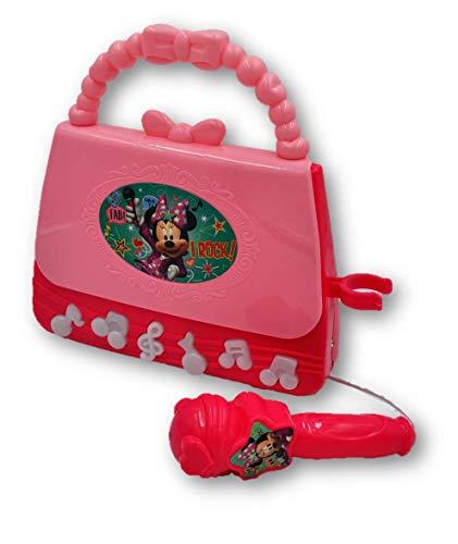 Bolsa para niñas con Micrófono Minnie Mouse con Luces y Sonido, Reproduce MP3 y Sus Notas Tiene Luz!