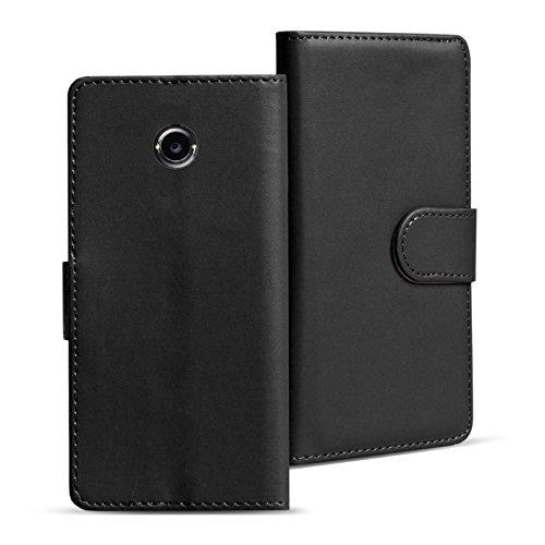 Verco Moto X2 Hülle, Handyhülle für Motorola Moto X 2 Gen. Tasche PU Leder Flip Case Brieftasche - Schwarz