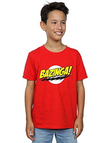 The Big Bang Theory Jungen Sheldon Bazinga T-Shirt Rot 12-13 Years