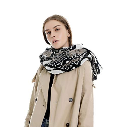 VIGCK Winter Snake Print Schal Damen Langer Schal Weiche Seidenchiffon Schals Und Tücher Bohemian Beach Silk Scarves