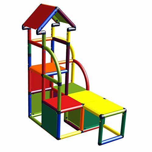 move and stic - Torre de escalada Cara multicolor adecuada para habitaciones infantiles, salas de juegos o jardín.