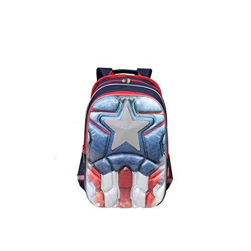 Spiderman, Captain America Kinderschooltas, Rugzak, Avengers, Jongens en Meisjes, 7-12 jaar oud, Size, A