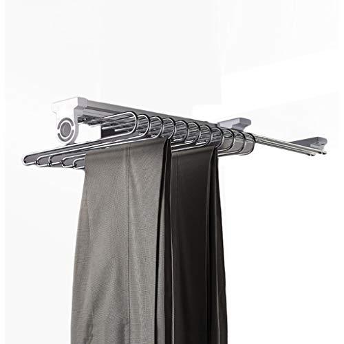 GWXYMJ Perchero Armario de una hilera Tire de los Pantalones de Rack, guardarropa Accesorios Pantalones Bastidor, Vestidor la suspensión de Ropa de Almacenamiento Estante de la Capa
