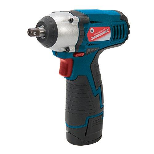 Silverline 638542 Llave de impacto, 10.8 V, Azul