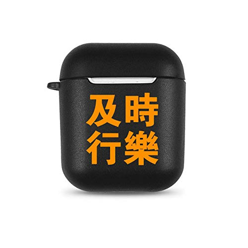 Waarschuwing Engelse woorden Soft TPU Case voor Apple Airpods 1/2 Cover Cartoon No Face Man Bluetooth Wireless Earphone Headphone Box, K