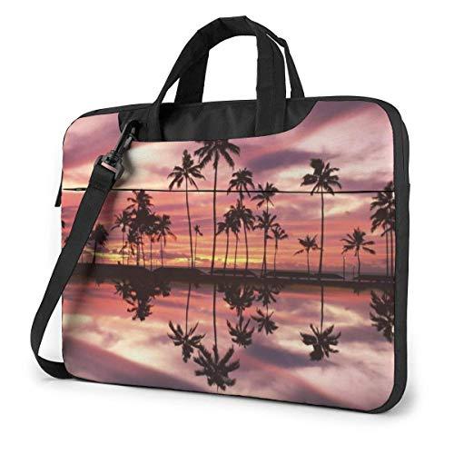 Portable Laptop Bag Sleeve Briefcase Sunset Scene Laptop Sleeve Case 15.6 Inch Computer Tote Bag Shoulder Messenger Briefcase
