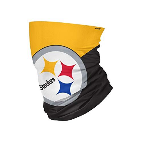 NFL FOCO Pittsburgh Steelers Neck Gaiter, One Size, Big Logo