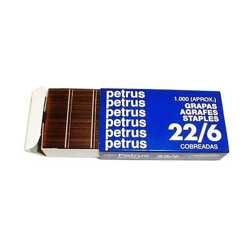 Petrus - Grapas nº 22/6 -caja de 1000 (25 unidades)