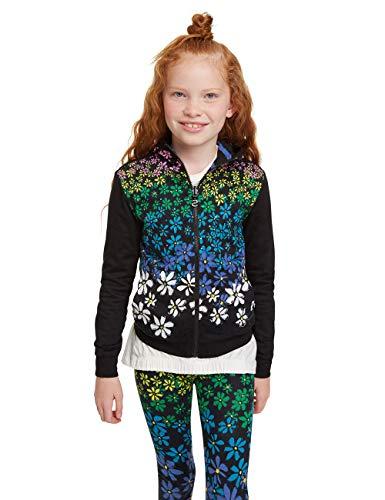 Desigual Mädchen Iowa Sweatshirt, Schwarz (Negro 2000), 152 (Herstellergröße: 11/12)
