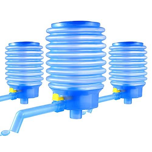HUANGDAN Bomba de Botella de Agua Manual Dispensador de Prensa Manual portátil Jarra de Grifo de Agua Reutilizable Filtros de Agua de Agua embotellada de 5-6 GAL Herramienta de Oficina en casa